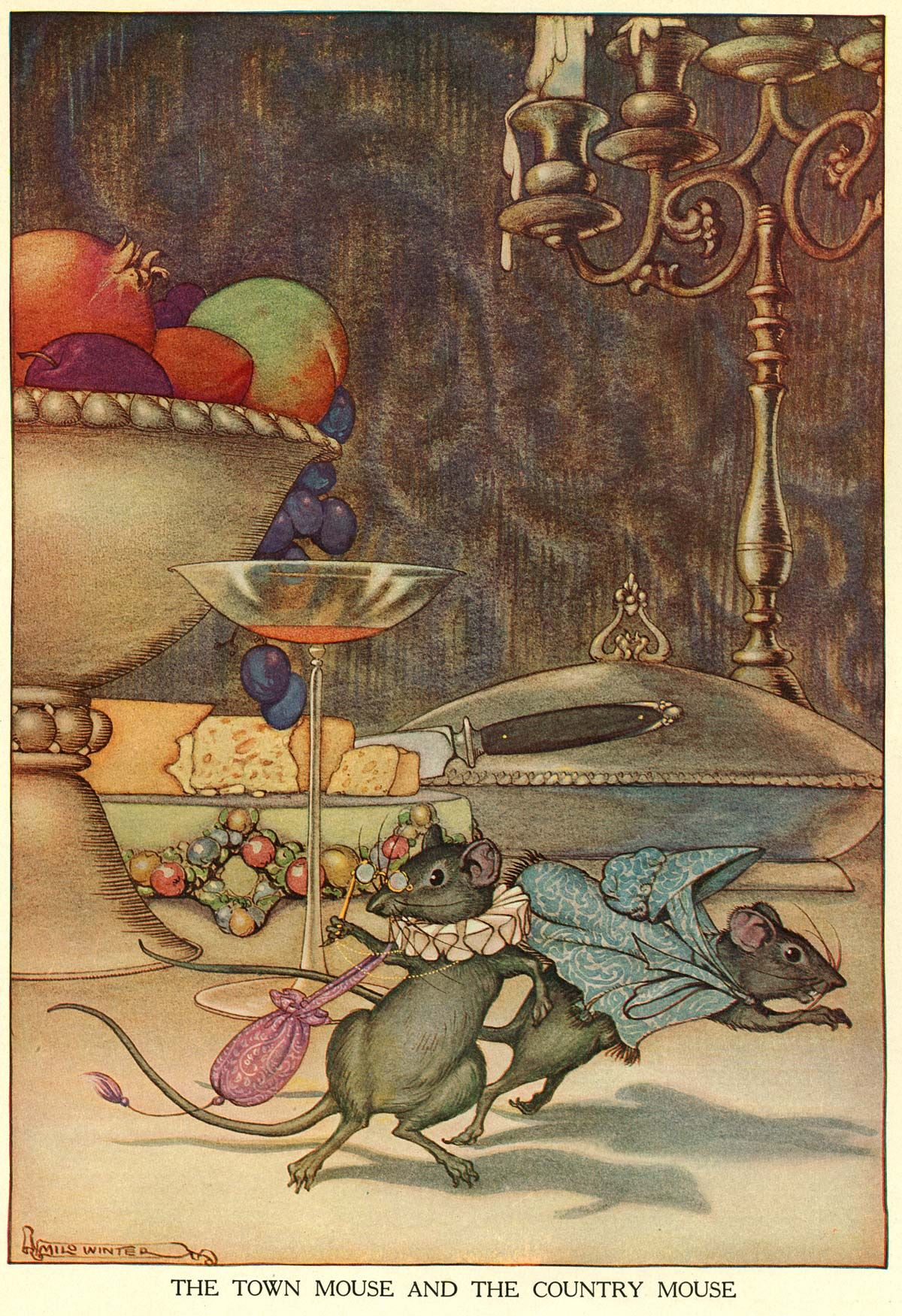 "Illustration by Milo Winter for ""Aesop' Fables"""