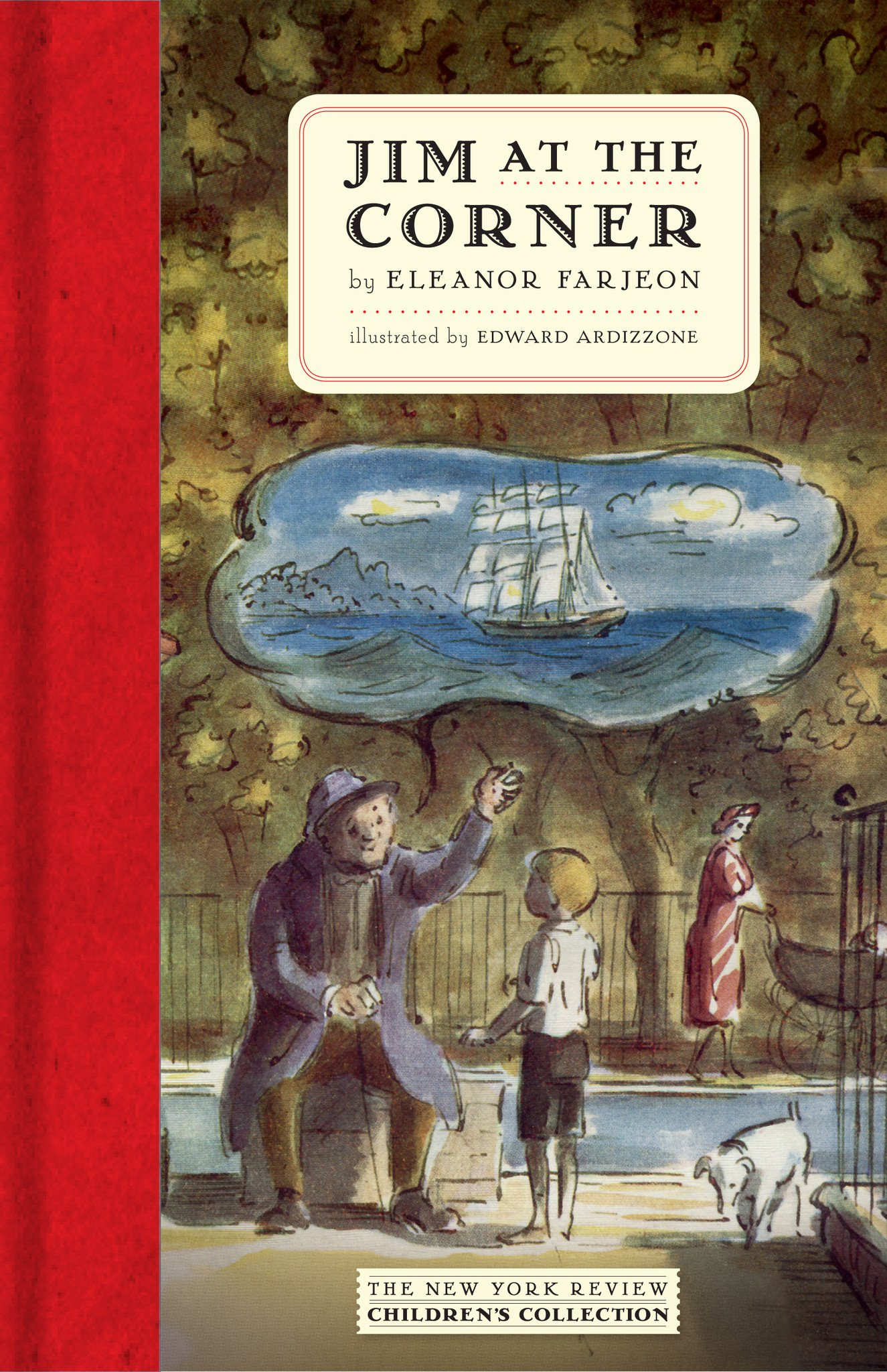 Cover Illustration by Edward Ardizzone for 'Jim at the Corner' by Eleanor Farjeon