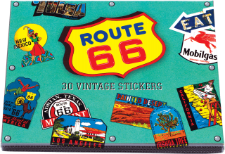 Route 66 Travel Labels (Travel Stickers)