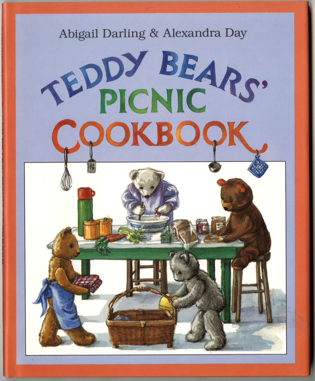 """The Teddy Bears' Picnic Cookbook"" Cover by Alexandra Day"