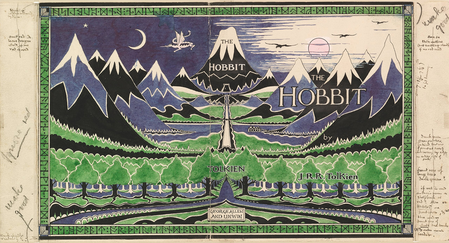 Dust Jacket Art for {The Hobbit}