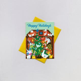 Animals' Christmas Tree (Little Golden Christmas Greeting Cards)
