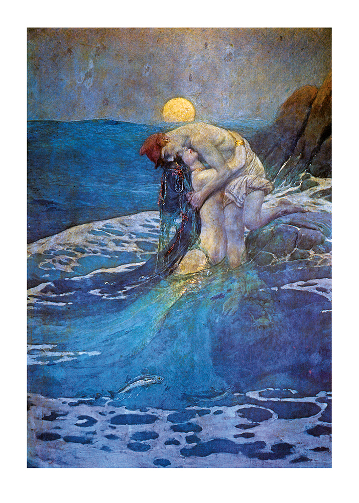 Mermaid painting by Howard Pyle