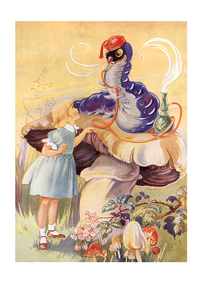"""Illustration by René Cloke for """"Alice's Adventures in Wonderland"""" Buy the Laughing Elephant Card >"""