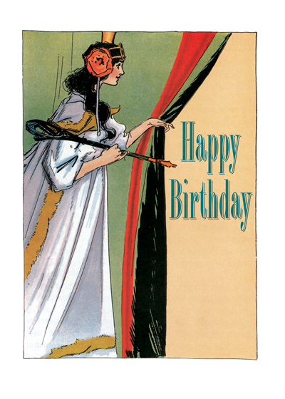 A birthday card from Laughing Elephant with and illustration by John R Neill Buy the card >