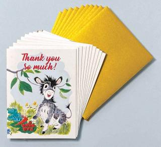 Happy Donkey - Box (Packaged and Boxed Thank You Greeting Cards)
