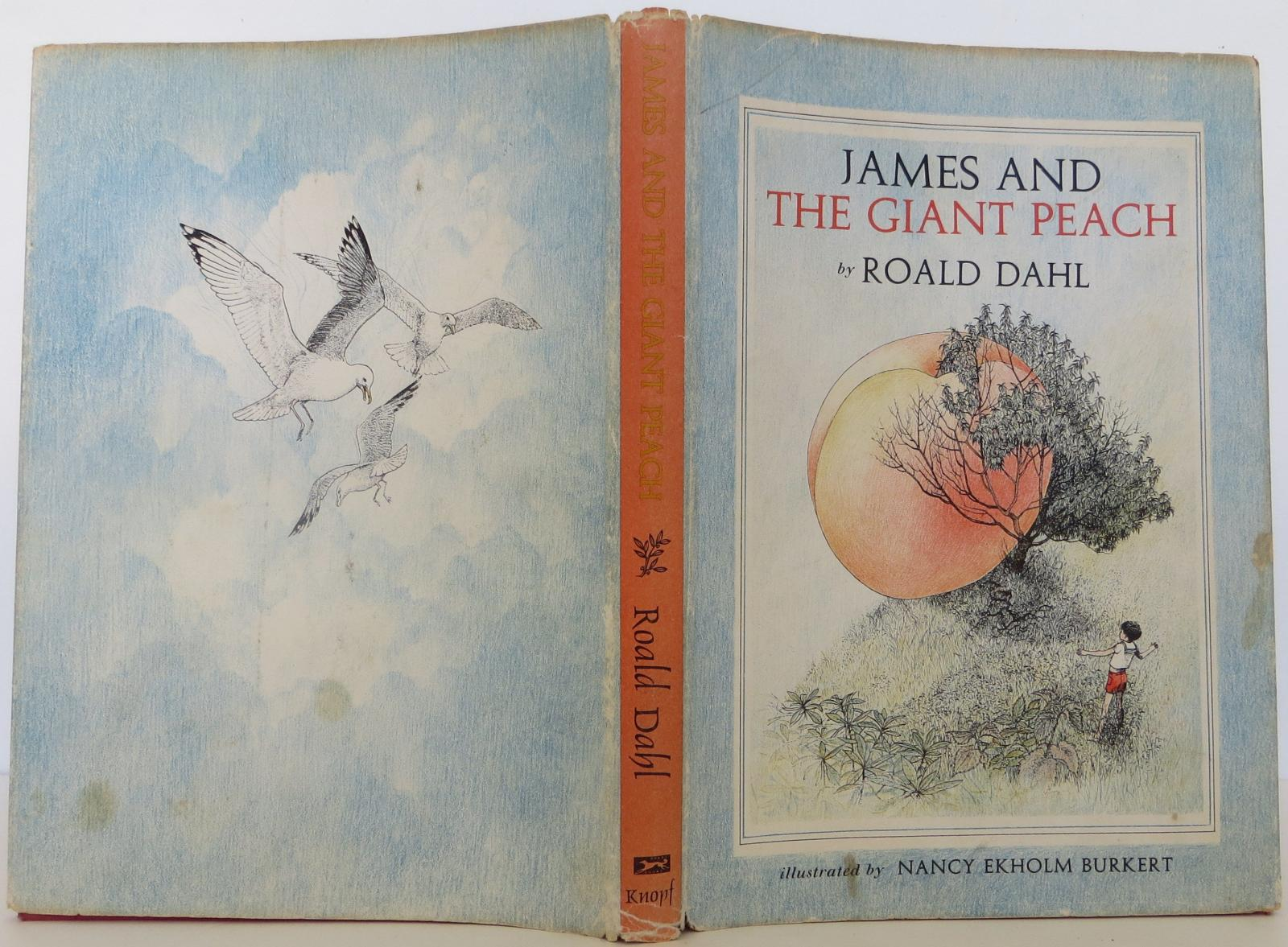 Cover Illustration by Nancy Ekholm Burkert for 'James and the Giant Peach' by Raold Dahl