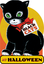 Black Cats at Halloween, Laughing Elephant Shape Book See the book>