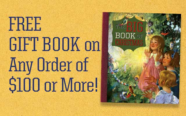 Free Gift Book On Any Order of $100 or More!