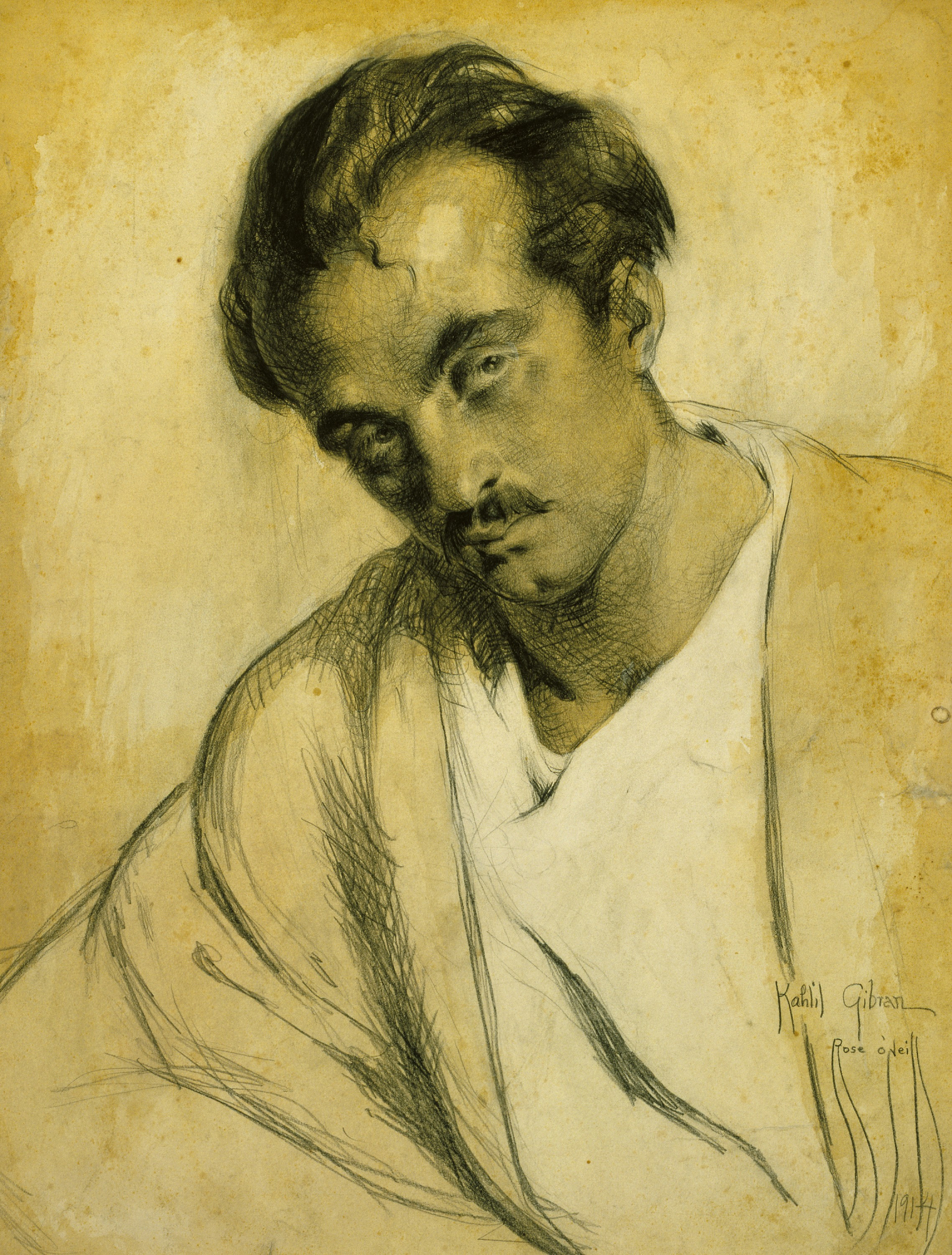Portrait of Kahlil Gibran by Rose O'Neill
