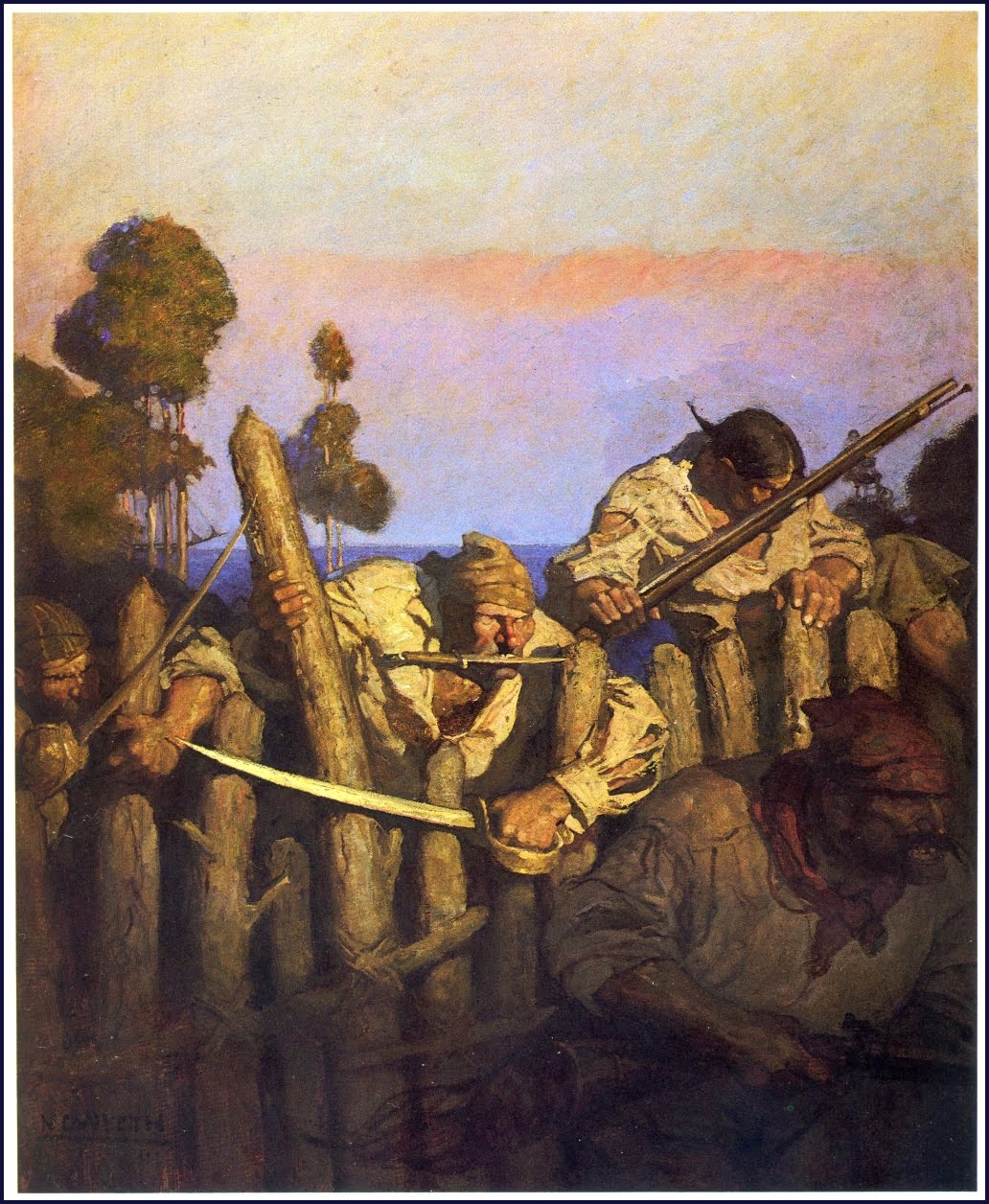 "Illustration from ""Treasure Island"" by Howard Pyle"