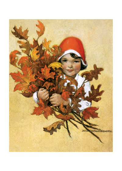 A lovely fall illustration by Jessie Wilcox Smith  Buy the Card >  Buy the Print >