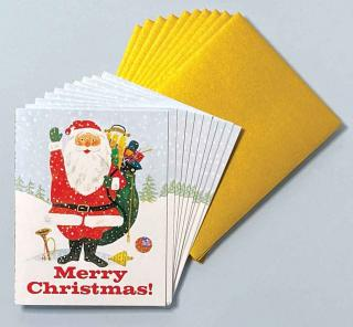 Santa Waving -Box (Packaged and Boxed Christmas Greeting Cards)