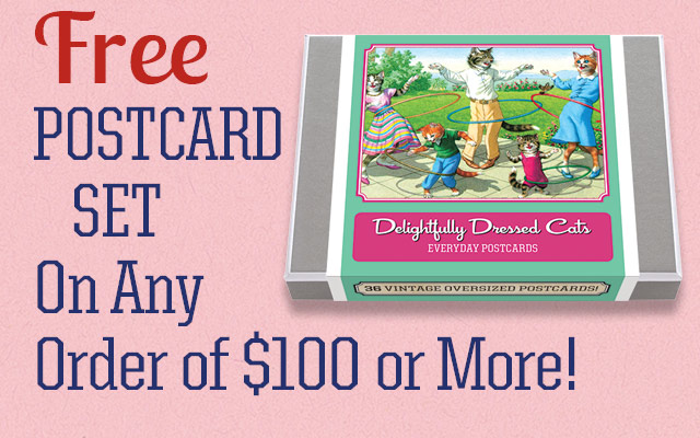 Free Postcard Set On Any Order of $100 or More!