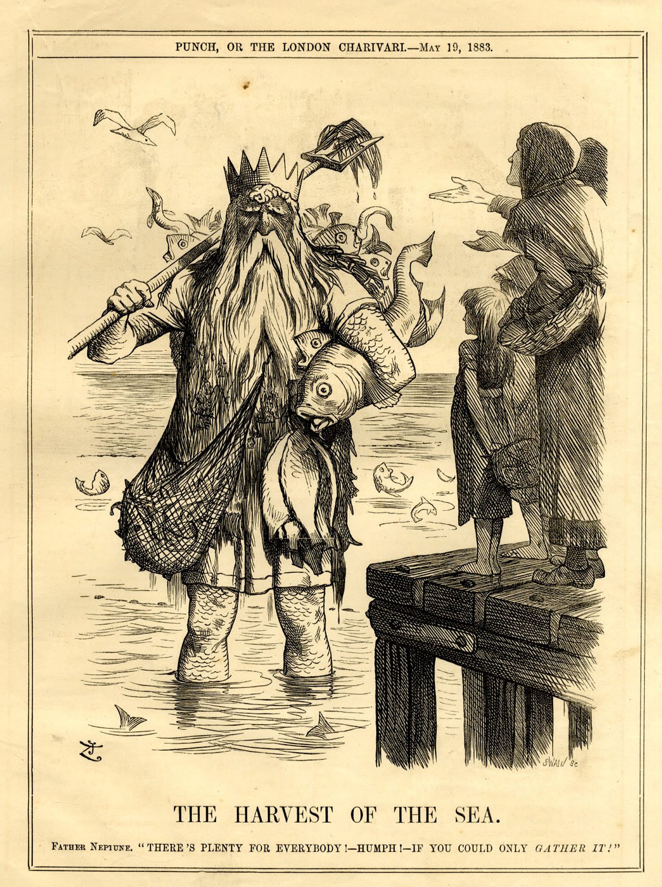 Political cartoon for 'Punch' by John Tenniel