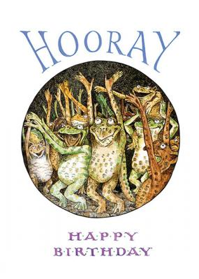 Frog Happy Birthday card