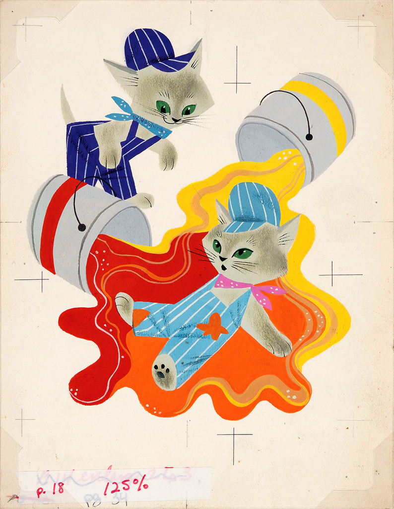 """Original painting for an Illustration for """"The Color Kittens"""" by Alice and Martin Provensen"""